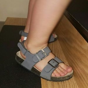 Cork 👶 Adjustable Velcro & Buckle Gray Sandals